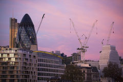 Crane at construction site in London. Stock Images