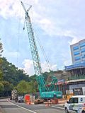 Crane, construction site Royalty Free Stock Images
