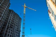 Crane on a construction site Stock Image