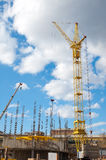Crane at a construction site Royalty Free Stock Photography
