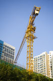 Crane construction site Royalty Free Stock Photography