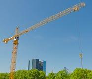 Crane on construction site. Stock Photos