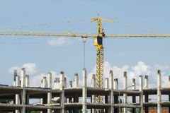 Crane in construction site Stock Photography