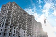 Crane on a construction site Stock Images
