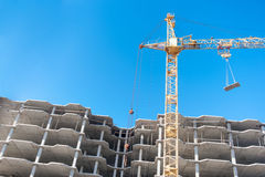 Crane on a construction site Royalty Free Stock Images