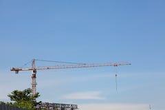 Crane at construction site Royalty Free Stock Photos