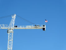Crane at construction site Stock Photography