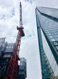 Construction in London by the Shard Royalty Free Stock Photos
