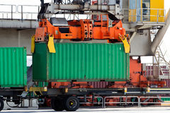 Crane container Royalty Free Stock Photography