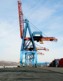 Crane With Containers Stock Image