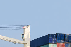 Crane and containers Royalty Free Stock Photos