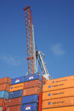 Crane and containers Royalty Free Stock Image