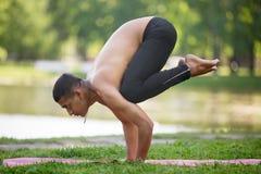 Crane (Crow) yoga Pose Royalty Free Stock Photos