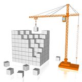 Crane and cubes Stock Images