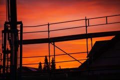 Crane at dawn Royalty Free Stock Photo