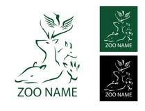 Crane Deer Zoo Logo Vector Illustration Stock Images