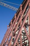 A crane detail. With facade Stock Photo
