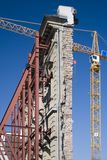 A crane detail. With facade Stock Images