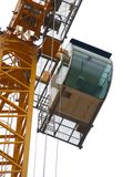 Crane Detail: Cabin Royalty Free Stock Photography