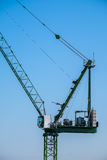 Crane detail and design with cabin Royalty Free Stock Photo