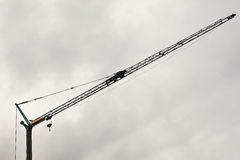Crane Details and Cloudy Sky Royalty Free Stock Image