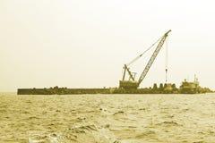 Crane on dock Royalty Free Stock Photos