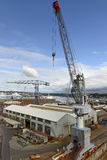 Crane and docks, Falmouth Stock Image