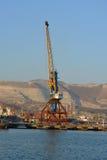 Crane. Dockside crane at sea port of Novorossiysk Stock Photography