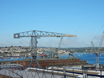 Crane in dockyard Stock Photography