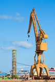 Crane of the dockyards Royalty Free Stock Photography