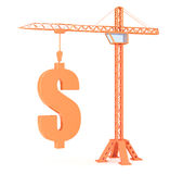 Crane with dollar Stock Photography