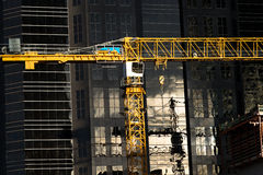 Crane in Downtown Calgary Stock Photography