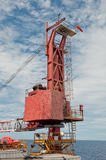 Crane on a Drilling Unit Stock Images
