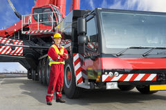 Crane driver Royalty Free Stock Photo