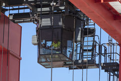 Crane driver Royalty Free Stock Images