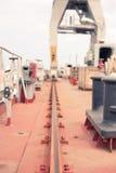 Crane in the dry dock Stock Photo