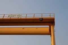 Crane el amarillo Foto de archivo
