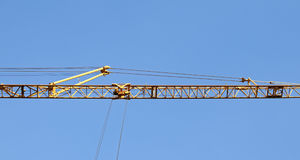 The crane elevating Stock Photos