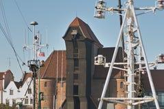 Crane em Gdansk Fotografia de Stock Royalty Free