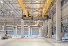 Crane Factory de arriba Fotos de archivo libres de regalías