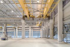 Crane Factory sopraelevato fotografie stock libere da diritti