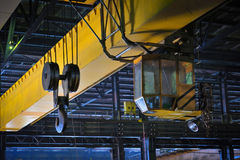 Crane gantry in steel plant Stock Photos