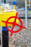 crane and gas pipe Stock Photos