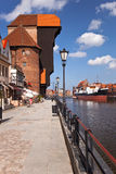 Crane in Gdansk. Is the oldest surviving port crane in Europe. Built between 1442 - 1444 year. Gdansk, Poland Stock Photography