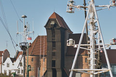 Crane in Gdansk Royalty Free Stock Photography