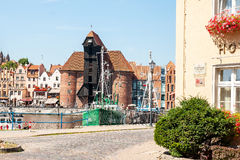 The Crane in Gdansk Royalty Free Stock Photography
