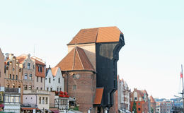 The Crane in Gdansk Royalty Free Stock Photos