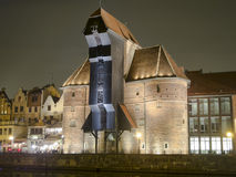The crane in Gdansk. Stock Photography