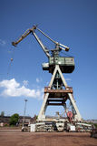 Crane in Gdansk shipyard Royalty Free Stock Image