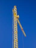Crane gibbet on blue sky Stock Images